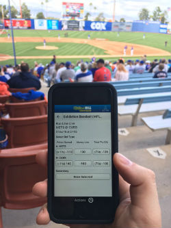 Mobile sportsbook apps can be used anywhere, as long as you are of age and in the state of Nevada.