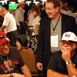 Norman Chad makes the rounds during Day 1B on Tuesday.