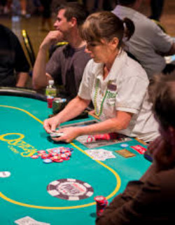 One of the most popular poker games in the casino is Three Card Poker.
