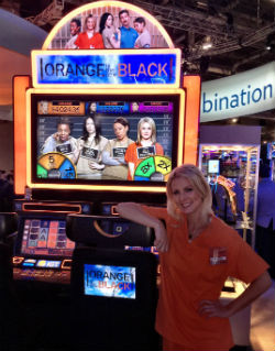 "One of the new slot machines unveiled by IGT in Las Vegas last week was based on the Netflix hit show ""Orange is the New Black."""