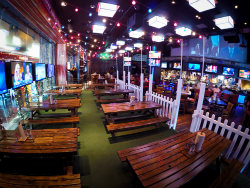 PBR Rock Bar and Grill dining room