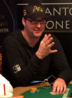 Phil Hellmuth at the 2016 Little One for One Drop No Limit tournament.