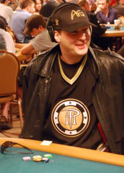 Phil Hellmuth looks a bit chagrined after arriving 100 minutes late to the WSOP Main Event Monday.