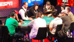 Phil Hellmuth turned on the charm for the ESPN featured table.