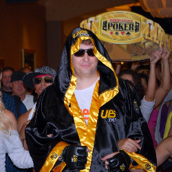 Phil Hellmuth's entrance on Wednesday was chaotic, to say the least.
