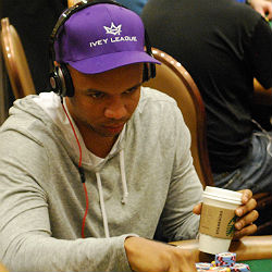 Phil Ivey turned a bit of luck into a monster chip stack Wednesday.