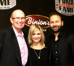 Poker Hall of Famers (from left) Jack McClelland, Jennifer Harman and Daniel Negreanu.