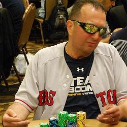 Raffi Boyadjian, a limo driver from Waltham, Mass., plays on Day 2B of the 2014 World Series of Poker Main Event.