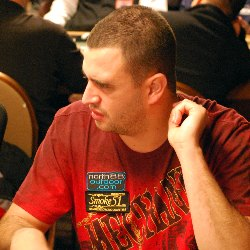 Robert Mizrachi ponders a call during Day 2A of the WSOP Main Event.