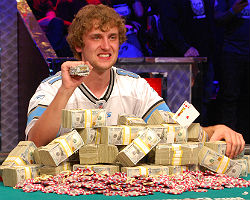 Ryan Riess was never in serious trouble Tuesday night as he cruised to victory at the World Series of Poker Main Event final table.