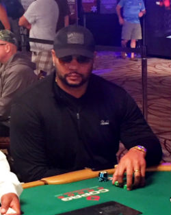 Super Bowl champion Richard Seymour was playing in his third WSOP Main Event on Saturday.