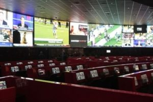 The 10,000-square-foot space at the Venetian sportsbook includes surround sound, marble flooring, and 118 carrels, the most of any Cantor sportsbook.