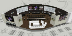 The 3,500 square foot sportsbook has 80 screens, 10 recliners, 22 lounging chairs and a full bar and food service.