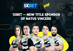 The agreement provides 1xBet support for NAVI teams in various eSports disciplines, including Dota 2 and CS:GO.
