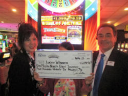 The anonymous winner was playing the Wheel of Fortune slot last weekend as she hit the jackpot.