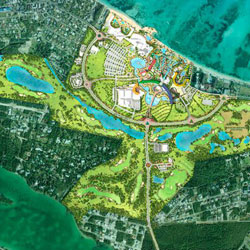 The Baha Mar development is currently budgeted at $3.4 billion.