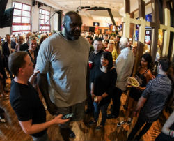 The bar celebrated its VIP grand opening party with an appearance by Shaq.