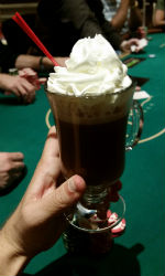The best hot chocolate in the world is at the Wynn Las Vegas.