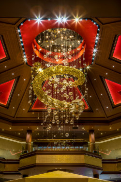 The casino's eye-catching sculpture.