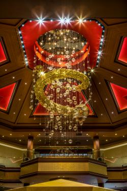 The casino's eye-catching sculpture.