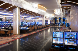 The 125,000 square-foot casino floor at MGM National Harbor has 3,300 slot machines and 126 table games.