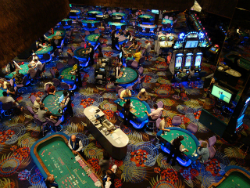 The casino floor of the Atlantis Casino Resort.