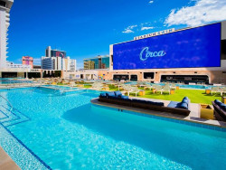 The Cosmopolitan has three distinct areas for guests to revel in the sun.