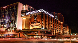 The Cromwell sits on the center of the Las Vegas Strip, next to Flamingo Las Vegas.