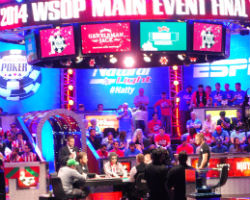 The first day of final table play at the World Series of Poker Main Event was a wild ride.