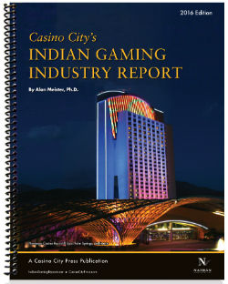 The front cover of the Indian Gaming Industry Report, 2016 edition