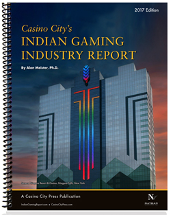 The front cover of the Indian Gaming Industry Report, 2017 edition.