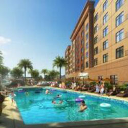 The hotel will have a family-friendly pool, equipped with a pool slide for the kids and poolside bar for the adults.