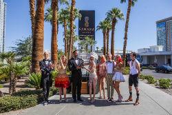 The iconic Sahara name is back on the Las Vegas Strip.