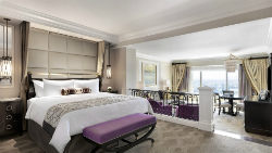 The luxury suite is one of the many rooms bookable via Facebook.