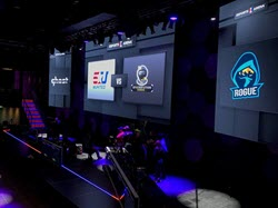 The main stage at Esports Arena Las Vegas.