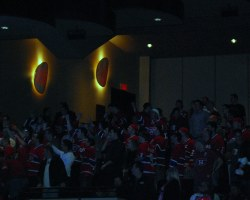 Duhamel fans rocked the Rio with Montreal Canadiens jerseys and racous cheers.