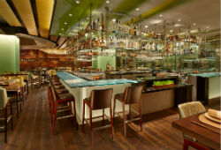 The new Harvest restaurant at Bellagio weds local design with sustainable cuisine.