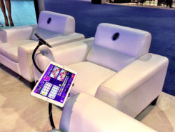 The new OrtiZone chairs from Ortiz Gaming allow players to play bingo in style.