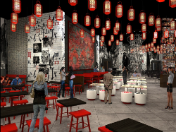 The night market at the Lucky Dragon will emulate the street food offerings of Asia and serve regional delicacies.