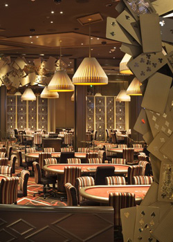 The poker room at the Aria.