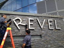 The removal of the Revel sign.
