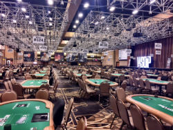 The Rio ballroom in Las Vegas will be empty this week instead of hosting the annual World Series of Poker.