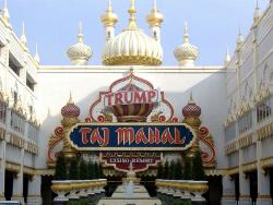 The sad, tired facade of the Trump Taj Mahal.
