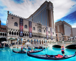 The outside of The Venetian.