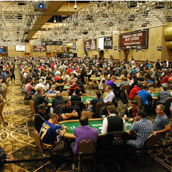Thousands of players joined in the Pavilion room to play Day 1C of the 2014 World Series of Poker Main Event on Monday, July 7.
