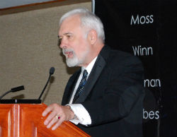 Tom McEvoy gave a heart-felt speech upon his induction into the Poker Hall of Fame.