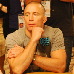Top UFC fighter Georges St. Pierre was eliminated by Stephan Patz at the 2012 World Series of Poker Main Event Sunday.