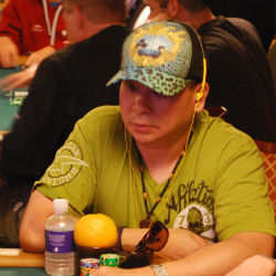 Two-time Main Event champion Johnny Chan played Wednesday in the WSOP Main Event. But (real) dogs playing poker stole the show.
