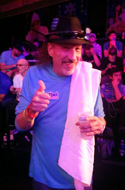 Uber-driver-turned-player-agent David Perry was on the rail at the WSOP Main Event final table for his new client, John Hesp.