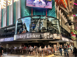Whiskey Liquor Up is a 6,500 square foot venue that overlooks the Fremont Street Experience.